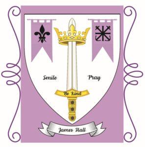 James Hall crest